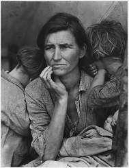 Family Photographed During the Great Depression by Dorothea Lange