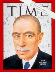 Time Magazine Cover featuring John Maynard Keynes