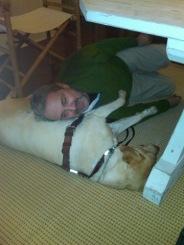 Guide Dog Nira and Writer Craig Lucas