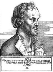 Durer's engraving of Philip Melanchthon 1526