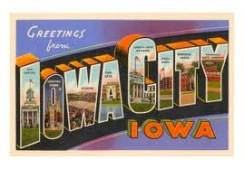 Postcard Iowa City, Iowa
