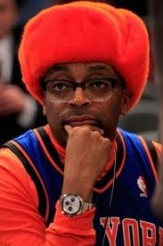 Spike Lee Wearing Knicks Gear