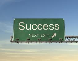 Roadsign Reading Success Next Exit
