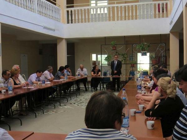 Speaking at Disability Center Turkmenistan