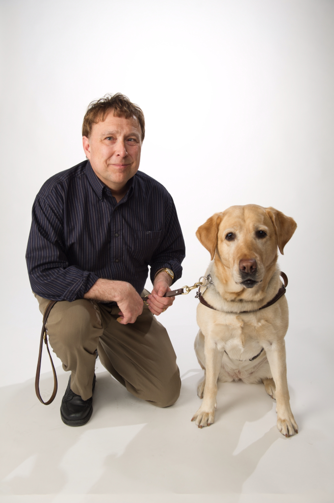 Steve Kuusisto and his third guide dog Nira