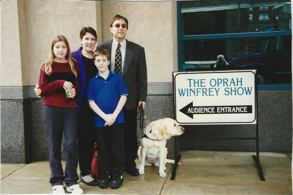 Stephen Kuusisto at the Oprah Winfrey Show