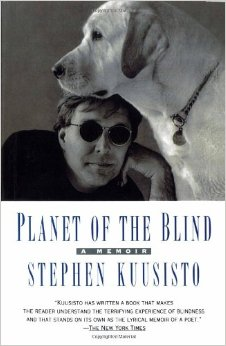 "Book Cover of ""Planet of the Blind"" by Steve Kuusisto"