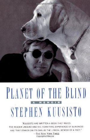 Cover of Planet of the Blind....man and dog....